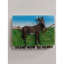 "Aimant "" Ane grand noir du Berry """
